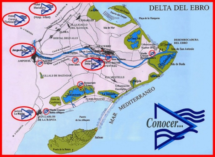 Mapa Delta De L Ebre.Amposta Parc Students Introduction